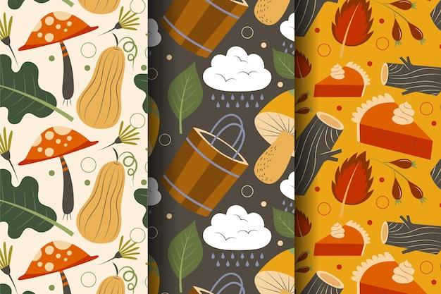 Coleção de padrões de outono