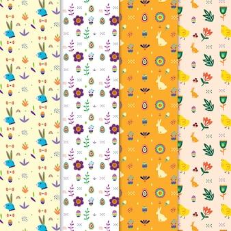 Coleção de padrões de páscoa fofos