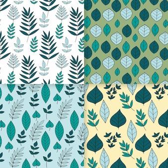 Coleção de padrões de primavera desenhada