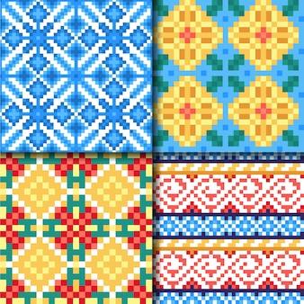 Coleção de padrões de songket