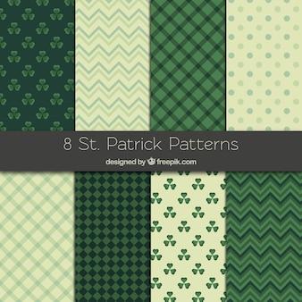 Coleção de padrões de st patrick
