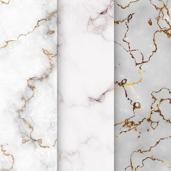Coleção de padrões de textura de mármore