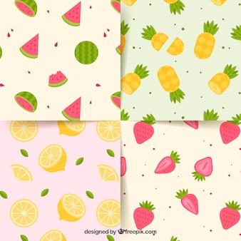 Coleção de padrões de verão