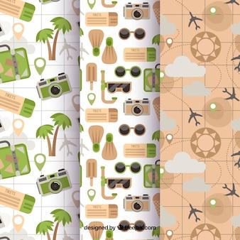 Coleção de padrões de viagem