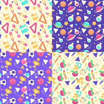 Coleção de padrões de volta à escola