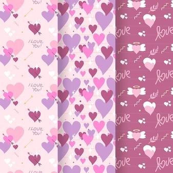 Coleção de padrões do dia dos namorados