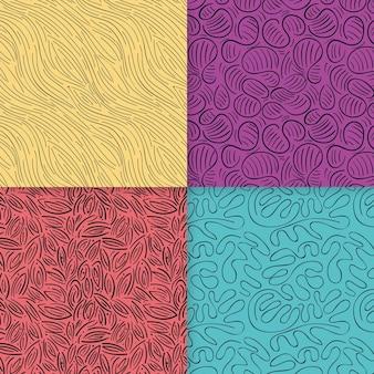 Coleção de padrões elegantes de linhas arredondadas