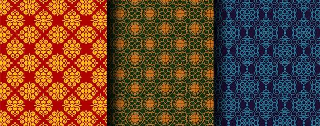 Coleção de padrões étnicos ornamentais sem costura