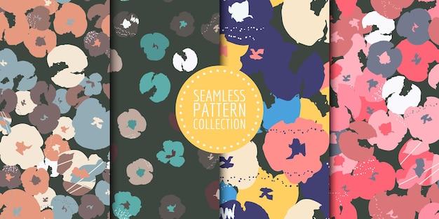 Coleção de padrões florais sem emenda. desenho vetorial para papel, tecido, decoração de interiores e capa
