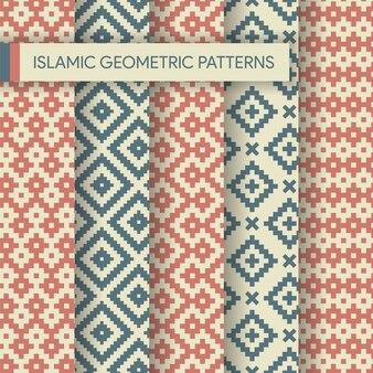 Coleção de padrões geométricos islâmicos sem emenda