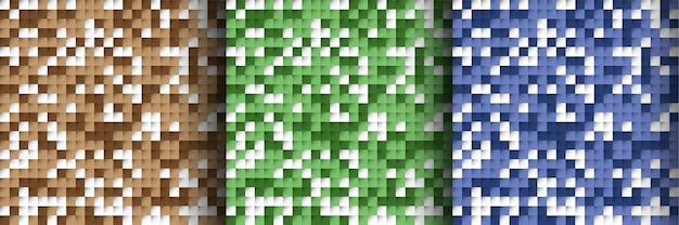 Coleção de padrões modernos em mosaico colorido