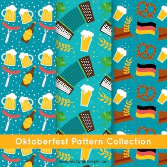 Coleção de padrões para festa mais oktoberfest