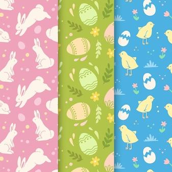 Coleção de padrões para o dia de páscoa