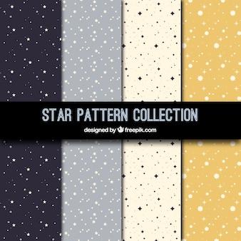 Coleção de padrões planos com estrelas