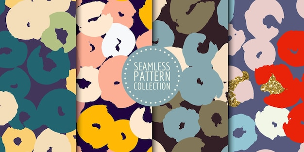 Coleção de padrões sem emenda de formas abstratas