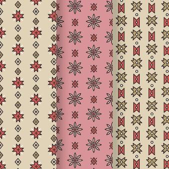 Coleção de padrões tradicionais de songket
