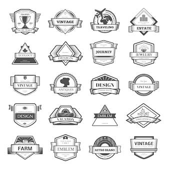 Coleção de padrões vintage. floresce ornamentos caligráficos e quadros. estilos retrô e modernos de elementos de design, sinais e logotipos. modelo.