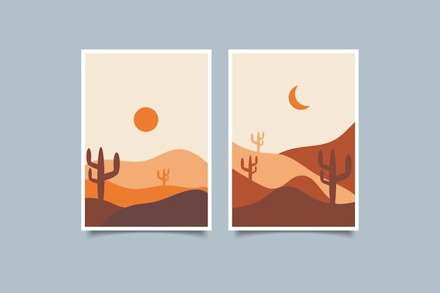 Coleção de paisagem moderna