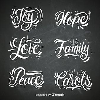 Coleção de palavras de natal