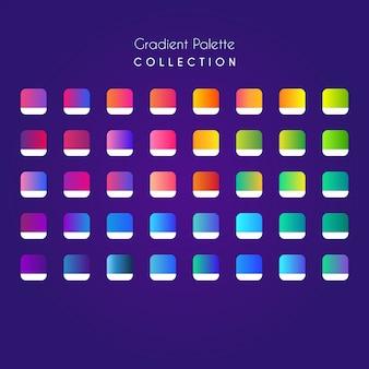 Coleção de paletas de gradientes