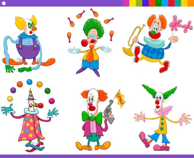Coleção de palhaços de circo