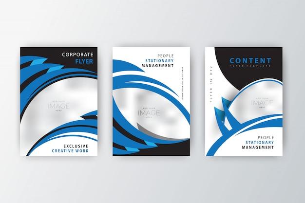 Coleção de panfleto de empresa 2020