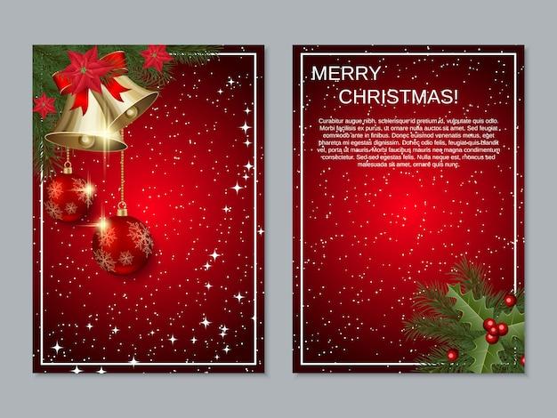 Coleção de panfleto de natal
