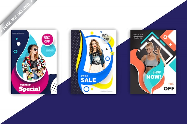 Coleção de panfleto de vendas