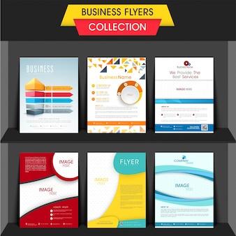 Coleção de panfletos de negócios