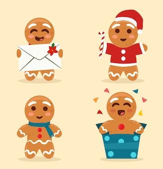 Coleção de pão de mel de natal