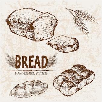 Coleção de pão deliciosa