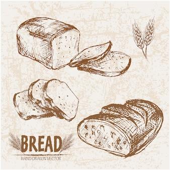 Coleção de pão fatiado
