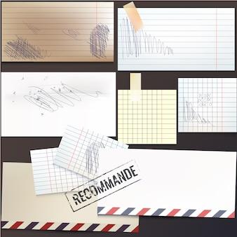Coleção de papéis doodle