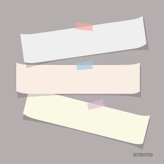 Coleção de papéis multicoloridos
