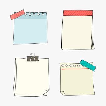 Coleção de papel de carta em branco