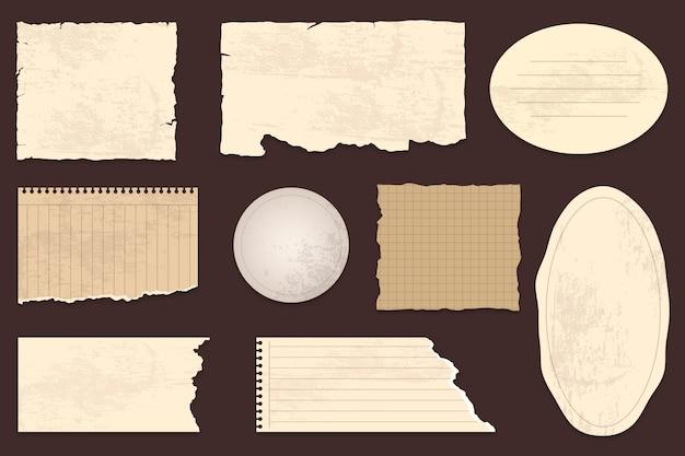 Coleção de papel de scrapbook vintage