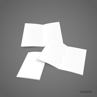 Coleção de papel em branco
