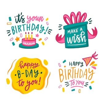 Coleção de parabéns feliz aniversário