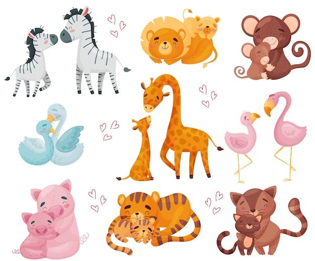 Coleção de pares de animais