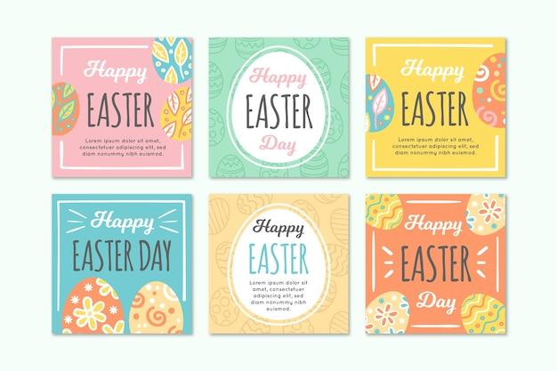 Coleção de páscoa colorida instagram ovos de primavera