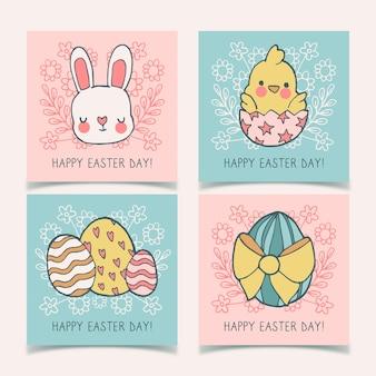 Coleção de páscoa de coelhinhos e ovos instagram