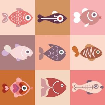 Coleção de peixes