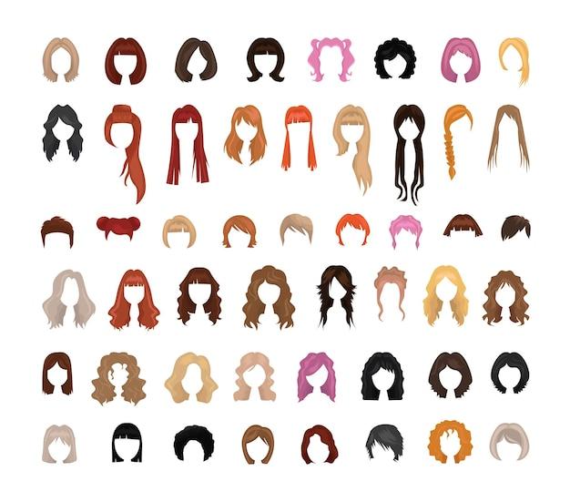 Coleção de penteados femininos