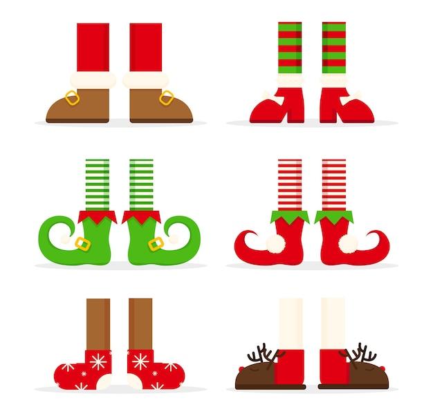 Coleção de pernas de natal