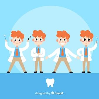 Coleção de personagem de dentista