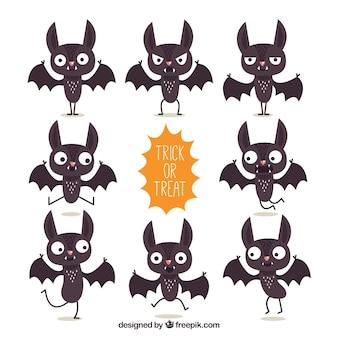 Coleção de personagem de morcego engraçado