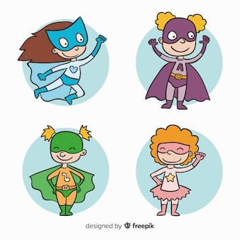 Coleção de personagem de super-herói feminino
