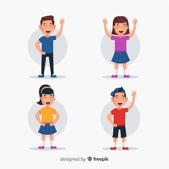 Coleção de personagem feliz dia das crianças