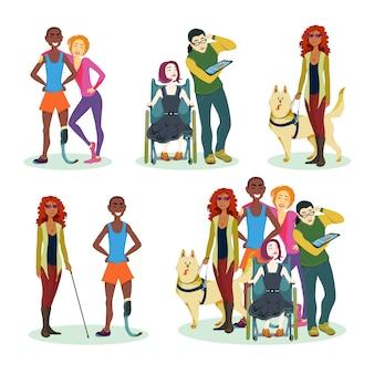 Coleção de personagens com deficiência