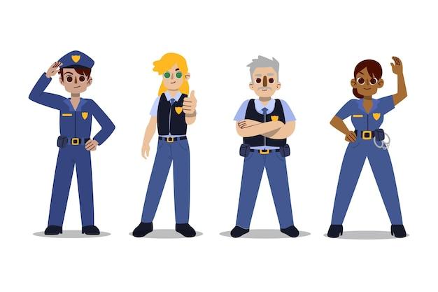 Coleção de personagens da polícia